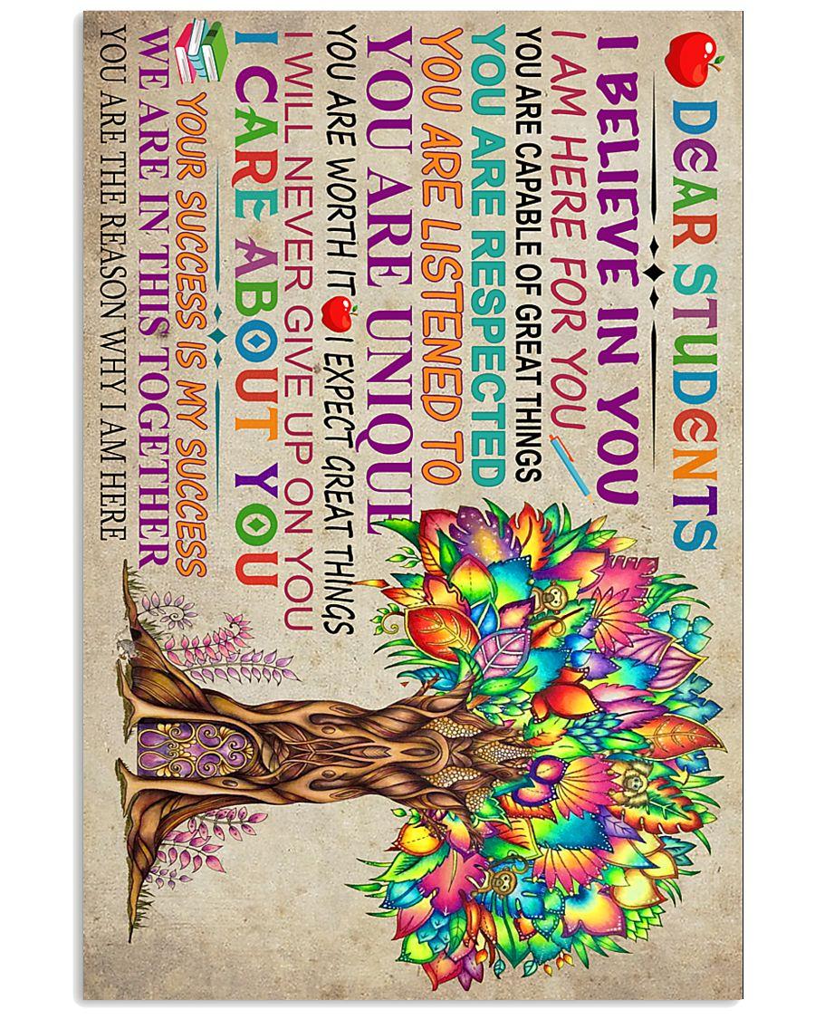 DEAR STUDENT 11x17 Poster
