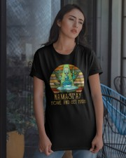 Namast'ay Home And Get High Classic T-Shirt apparel-classic-tshirt-lifestyle-08