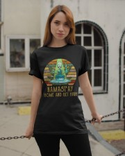 Namast'ay Home And Get High Classic T-Shirt apparel-classic-tshirt-lifestyle-19