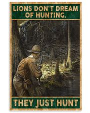 LIONS DON'T DREAM OF HUNTING THEY HUNT 24x36 Poster front