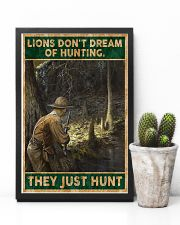 LIONS DON'T DREAM OF HUNTING THEY HUNT 24x36 Poster lifestyle-poster-8