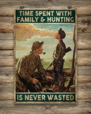 Spent time on hunting is never wasted  24x36 Poster aos-poster-portrait-24x36-lifestyle-14