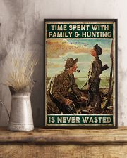 Spent time on hunting is never wasted  24x36 Poster lifestyle-poster-3
