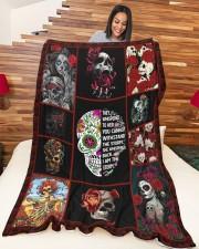 "Best Tattooed Skull Blanket Large Fleece Blanket - 60"" x 80"" aos-coral-fleece-blanket-60x80-lifestyle-front-04a"
