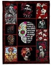 "Best Tattooed Skull Blanket Large Fleece Blanket - 60"" x 80"" front"