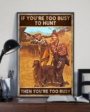 TOO BUSY TO HUNT  24x36 Poster lifestyle-poster-2