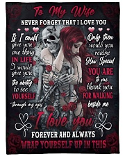 """I LOVE YOU FOREVER AND ALWAYS- SKULL BLANKET  Large Fleece Blanket - 60"""" x 80"""" thumbnail"""