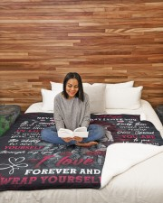 """I LOVE YOU FOREVER AND ALWAYS- SKULL BLANKET  Large Sherpa Fleece Blanket - 60"""" x 80"""" aos-sherpa-fleece-blanket-60x80-lifestyle-front-08"""