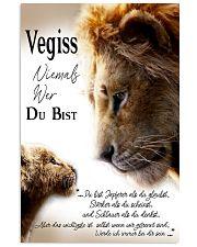 VEGISS NIEMALS WER DU BIST 11x17 Poster front