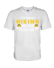 hiking taco V-Neck T-Shirt thumbnail