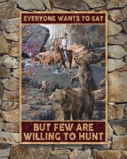 Everyone wants to eat but few are willing to hunt 24x36 Poster aos-poster-portrait-24x36-lifestyle-16