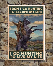 I go hunting to live my life poster 24x36 Poster aos-poster-portrait-24x36-lifestyle-16