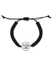 GIRL PWR Cord Circle Bracelet front