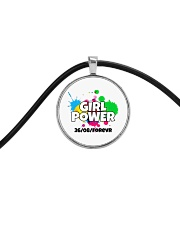 GIRL PWR Cord Circle Necklace thumbnail