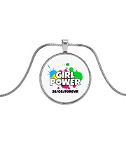 GIRL PWR Metallic Circle Necklace thumbnail