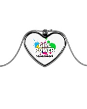 GIRL PWR Metallic Heart Necklace thumbnail