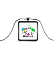 GIRL PWR Metallic Rectangle Necklace thumbnail