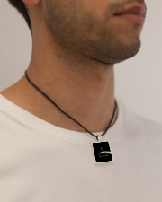 The dark side of the moon  Cord Rectangle Necklace aos-necklace-square-cord-lifestyle-2