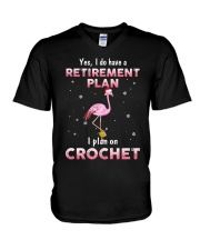 I Plan On Crochet V-Neck T-Shirt thumbnail