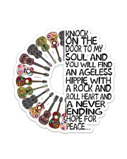 Hippie Knock To My Soul Sticker - Single (Vertical) front