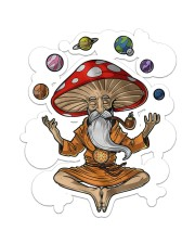 Yoga Mushroom  Sticker - Single (Vertical) front