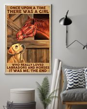 Girl Loved Horses And Labradors 11x17 Poster lifestyle-poster-1