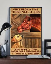 Girl Loved Horses And Labradors 11x17 Poster lifestyle-poster-2