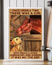 Girl Loved Horses And Labradors 11x17 Poster lifestyle-poster-4