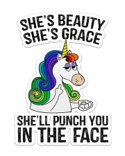 Unicorn She's Beauty Sticker - Single (Vertical) front