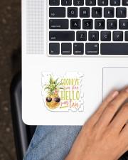 Teacher Hello Suntan Sticker - Single (Vertical) aos-sticker-single-vertical-lifestyle-front-11