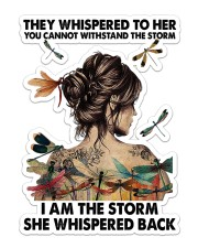 Dragonfly I Am The Storm  Sticker - Single (Vertical) front