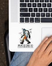 Bigfoot Into The Forest I Go NTV Sticker - Single (Vertical) aos-sticker-single-vertical-lifestyle-front-11