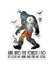 Bigfoot Into The Forest I Go NTV Sticker - Single (Vertical) front