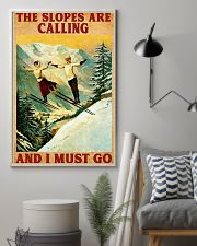 Skiing The Slopes Are Calling 11x17 Poster lifestyle-poster-1