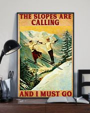 Skiing The Slopes Are Calling 11x17 Poster lifestyle-poster-2
