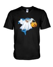 Ghost Shark V-Neck T-Shirt thumbnail