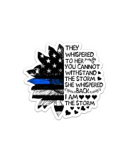 Police I Am The Storm Sticker - Single (Horizontal) front