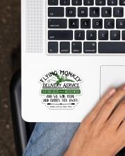 Flying Monkey  Sticker - Single (Horizontal) aos-sticker-single-horizontal-lifestyle-front-11