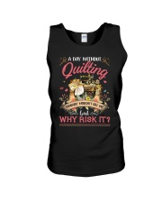 A Day Without Quilting Unisex Tank thumbnail