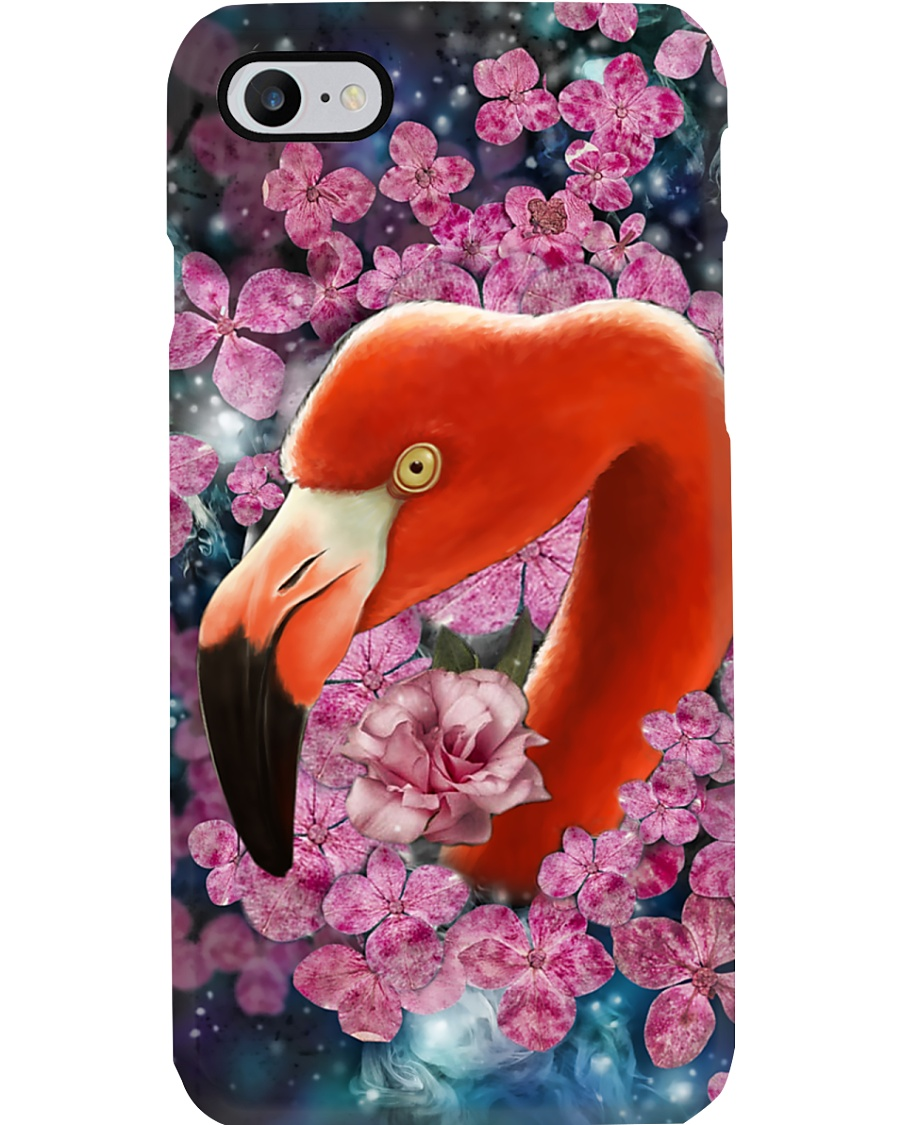Flamingo And Flower PC Phone Case