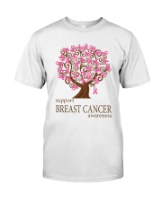 Support Breast Cancer Awareness Classic T-Shirt front