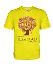 Support Breast Cancer Awareness V-Neck T-Shirt thumbnail