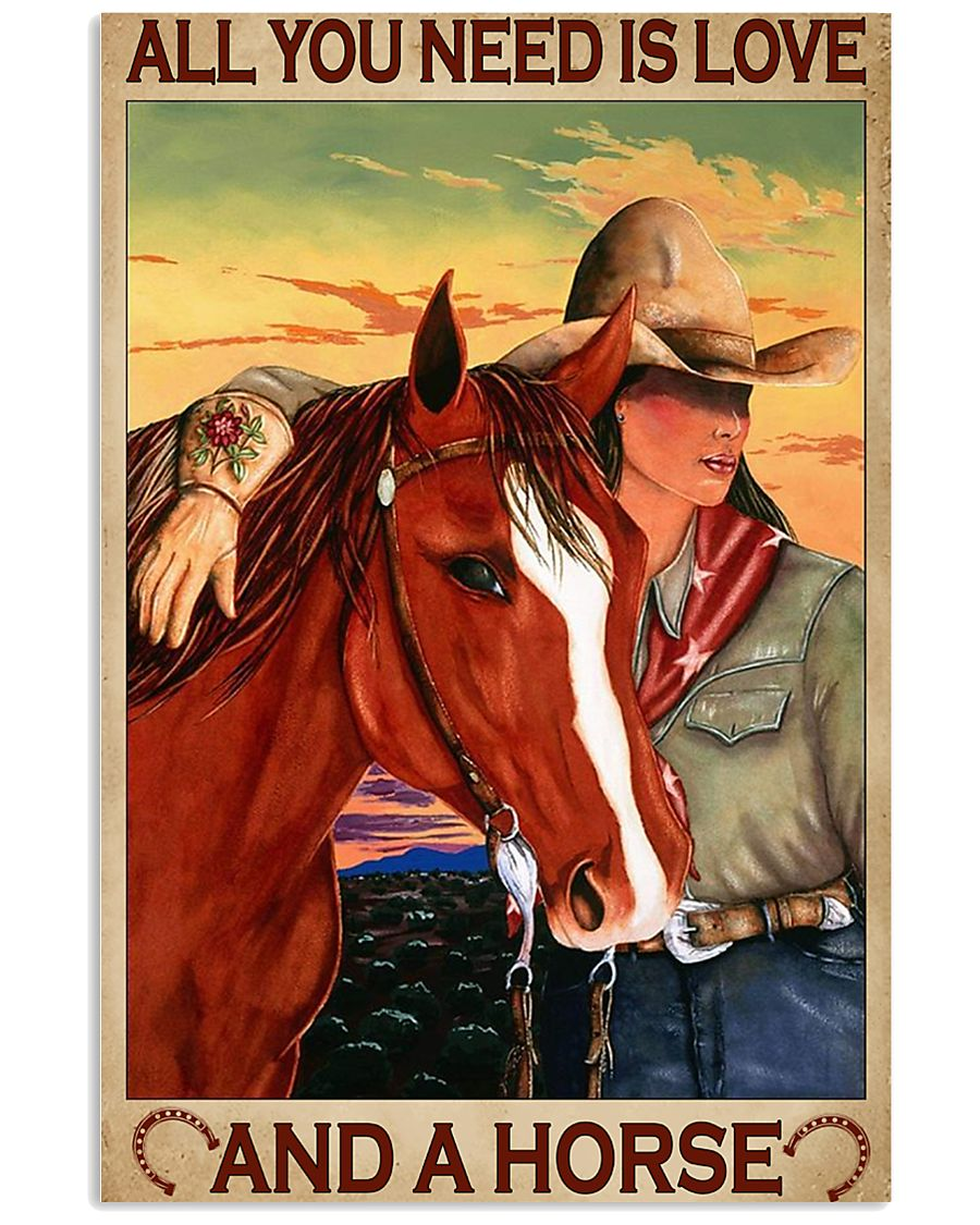 All You Need Is Love And A Horse 11x17 Poster
