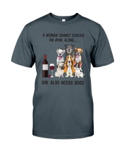 Dogs And Wine Classic T-Shirt tile