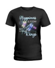 Happiness Is Flying With Your Own Wings Ladies T-Shirt thumbnail