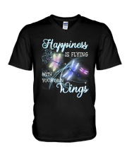 Happiness Is Flying With Your Own Wings V-Neck T-Shirt thumbnail