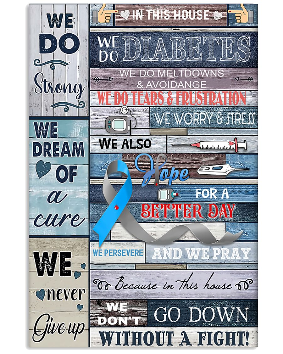In This Diabetes House 11x17 Poster