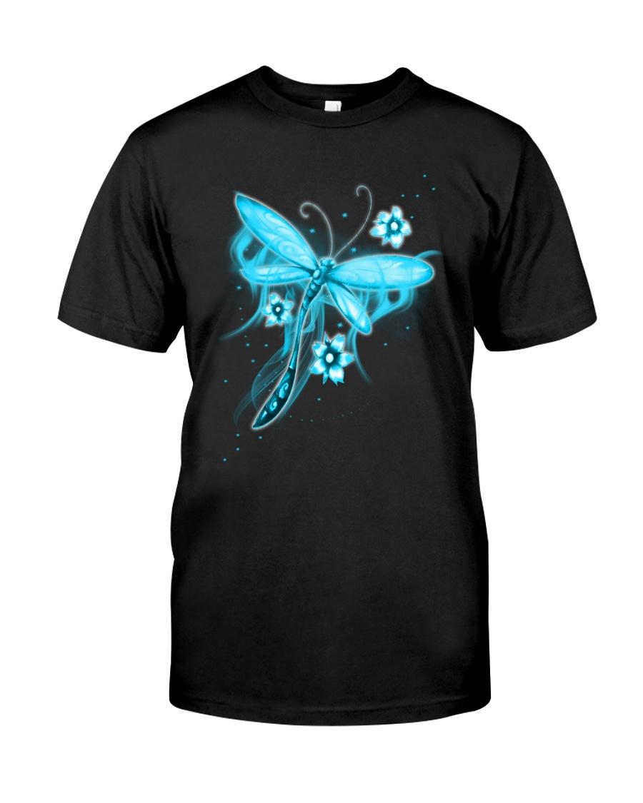 Blue Light Dragonfly Classic T-Shirt