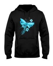 Blue Light Dragonfly Hooded Sweatshirt thumbnail