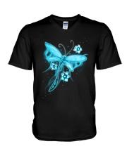 Blue Light Dragonfly V-Neck T-Shirt thumbnail
